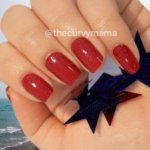 2/$20 berry patriotic Incoco nails glitter retired